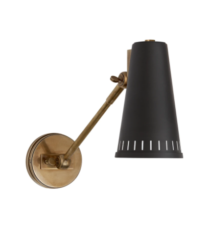 WYC Designs - SHOP - Brass & Black Sconce