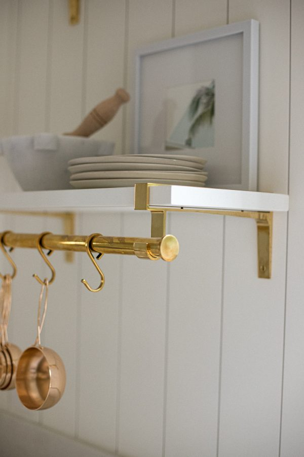 WYC Designs - SHOP - Open shelving with brass accents